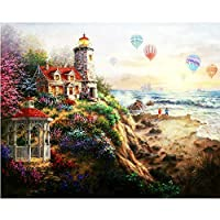 数字で描く都市の風景写真ギフトキット描画キャンバス手描きの風景家の装飾数字で描く40x50cmフレームなし
