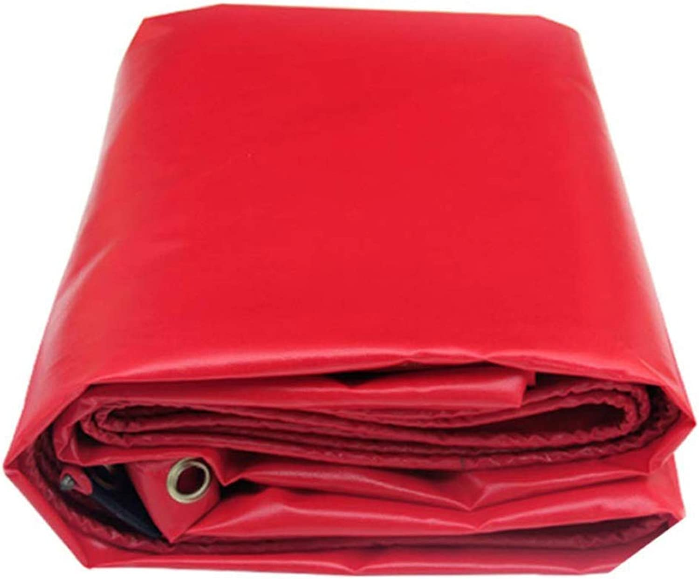 SJMYBB Plane verdicken PVC-Planen rote Plane Verwendbar für kampierendes wanderndes Fischen der Outdoorreisecampingpoolabdeckungspicknick-Haustier-Haustierfrachtabdeckung (gre   3  2m)