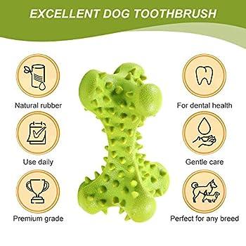 CBROSEY Brosses à Dents pour Chiens,Soins Dentaires pour Chiens,Dog Toothbrush, Nettoyage des dDents Jouet à Mâcher pour Chiens Chiots, Soins Bucco-Dentaires pour Chiens