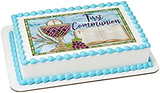 First Communion PhotoCake Edible Frosting Image 1/4 sheet Cake Topper