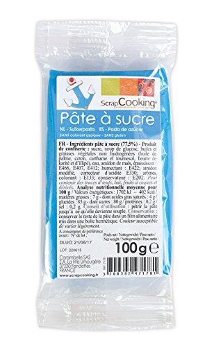 Pâte à sucre bleu 100g, Scrapcooking