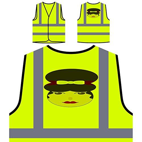 Señora De La Moda Mujer París Chaqueta de seguridad amarillo personalizado de alta visibilidad o603v