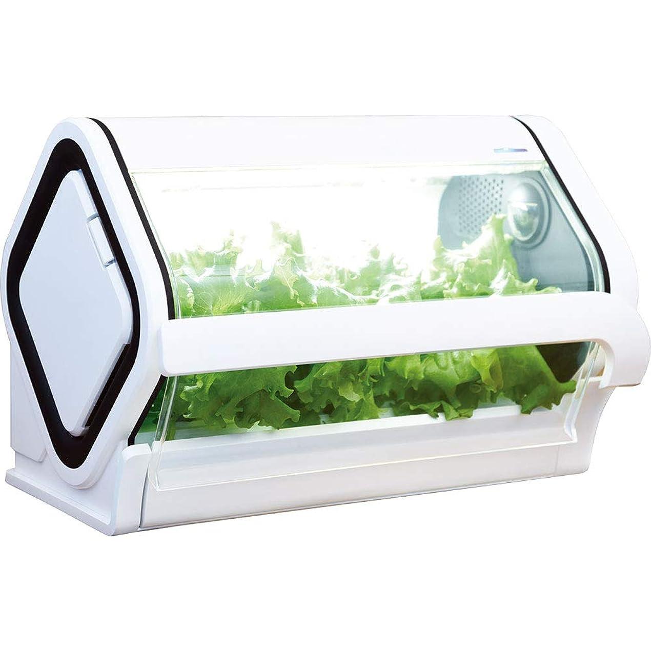 沖縄セルラー 水耕栽培 スマホ連動 LEDライト やさい物語 OCT-BD01 白