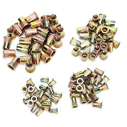 Threaded Rivet Nut Kit, Fastener Nut Set, Simple to Use Workshop Supplies Repair Supplies for Repair Accessories Repair Hardware