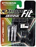 Nockturnal Fit Universal Size Strobing Red & Green Lighted Arrow Archery Nocks, 3 Pack, Red & Green Strobing