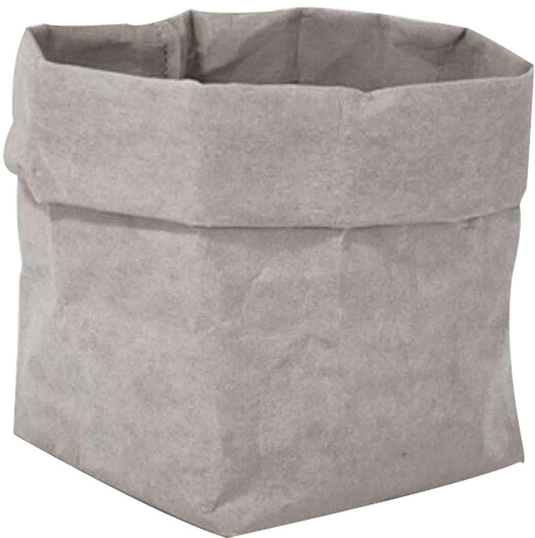 記録準備する意味IvyOnly 収納紙袋 貯蔵袋 クラフト紙袋 フラワーポット物収納 ショッピング用 おもちゃ 果物 お菓子 ペーパーバッグ 耐久性 折り畳み式 洗濯可能 再利用 環境保護 (M(15*15*28cm), グレー)