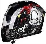 Bluetooth Flip Up Motorbike Helmet, Street Motorcycle Scooter Full Face Helmets for Adult,Youth Men and Women Visors Adult Bike Moped Motor Motocross Helmet DOT Certified 1,M=(57~58CM)