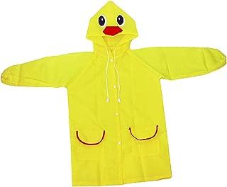 HOMYL Rain Suit for Kids Child Cartoon Waterproof Raincoat Hooded Jacket Rainwear