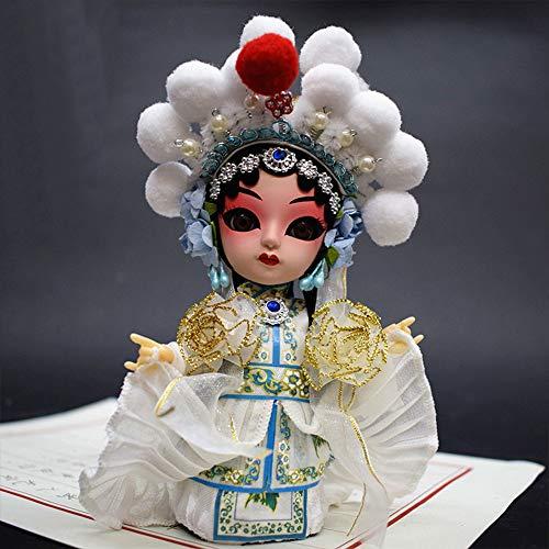 ドールメイキング 手芸用品 子供の人形 京劇の人形 中国の唐人形 人形の置物 Q版の絹人の贈り物 京劇の隈取りの人物がポーズをとる (白素貞)