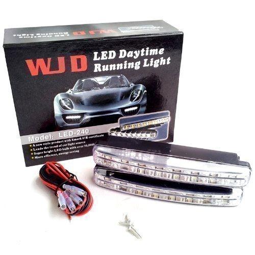 WJD LED Tagesfahrlicht mit superhellen chrom Xenon Weiße LEDs mit R87 Zulassung