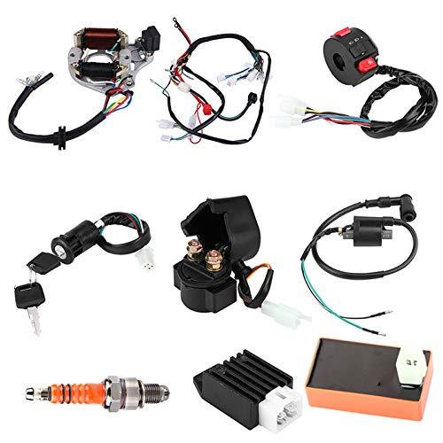 EBTOOLS Bobina de encendido CDI Box Kit de interruptor de apagado de arnés de cableado de bujía, kit de cableado de montaje de arnés CDI de 5 pines para 50 70 90110 125cc ATV China Electric Start