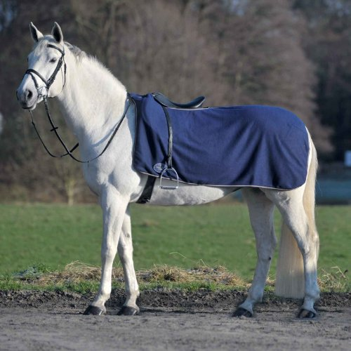 WALDHAUSEN Fleece-Ausreitdecke Economic, marine, Warmblut