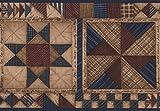 Beige Azul Marrón Abstract cenefa diseño geométrico, rollo 15