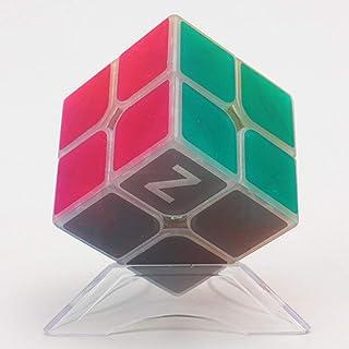 LEEEC Transparent hastighetskub (kreativt, unikt material) pussel magisk kub 2 x 2,3 x 3,4 x 4, lysande, 2 x 2 x 2