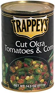 Trappey's Cut Okra Tomatoes & Corn, 14.5oz Cans (Pack of 6)