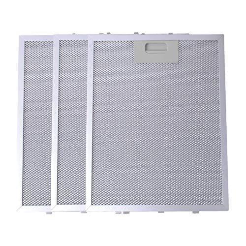 Filtro de Grasa para Campana Extractora de Cocina por Poweka (Plata, 320 x 260 mm, 3 Piezas)