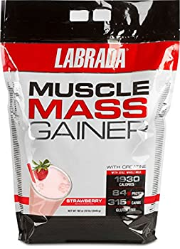 Labrada Nutrition Muscle Mass Gainer Strawberry 12 Pound
