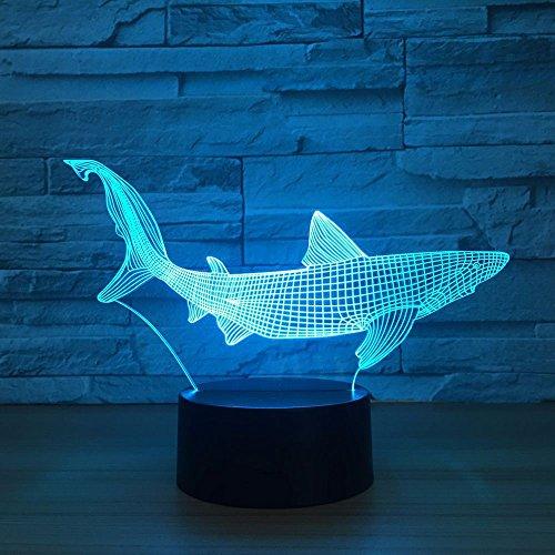 Neue Haifischwerkzeuge in der Fischtischlampe Hauptdekorationsparty Farbwechselndes Nachtlicht Schlafen Schlaf Dekorative Lampen