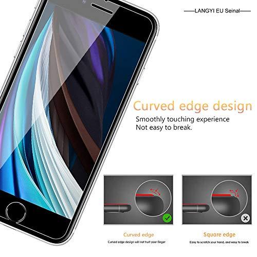 Seinal Panzerglas Schutzfolie für iPhone SE 2020 (2 Stück) 9H Panzerglasfolie,HD Displayschutzfolie/Panzerfolie,Tempered Glas Schutzglas,Handy Folie 3D Hartglas,Glass-Transparent