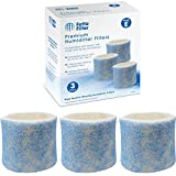 Fette Filter - Blue Mesh Humidifier Wicking Filters Compatible with Honeywell HC-14V1, HC-14, HC-14N. Filter E. (Pack of 3)