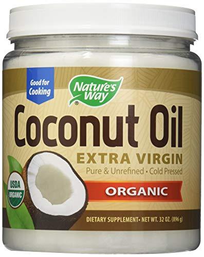 Nature's Way Organic Extra Virgin Coconut Oil- Pure, Cold-pressed, Organic, Non-GMO, Gluten-free- 32 Ounce (2 PACK)