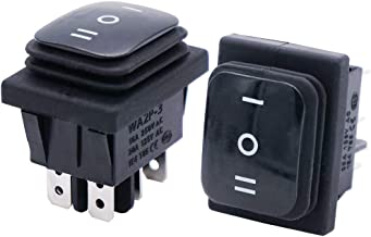 Motorcycle Willwin 10pcs KCD4 Green Light 6 Pin AC 250V 10A 125V 16A 2 Position DPDT Boat Rocker Switch for Car