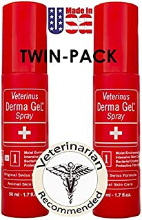 Veterinus Derma GeL - Natural Spray 50mL - 1.7 fl.oz. (Twin-Pack of 2 x 50mL) - CAT Safe Non Toxic Contains: Freeze Dried ...