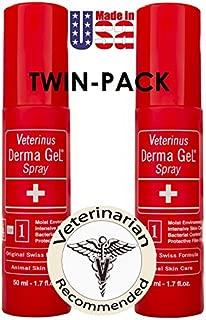 Veterinus Derma GeL - Natural Spray 50mL - 1.7 fl.oz. (Twin-Pack of 2 x 50mL)