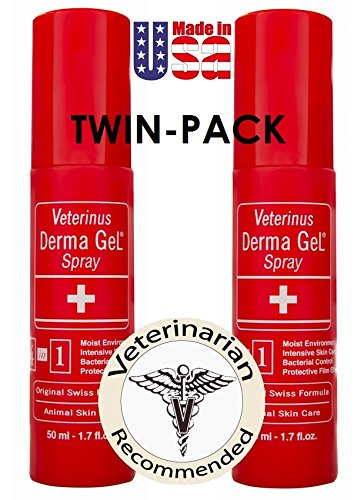 Veterinus Derma GeL - Natural Spray 50mL - 1.7 fl.oz. (Twin-Pack of 2 x 50mL) - CAT Safe Non Toxic Contains: Freeze Dried Lavender extr. (no Essential Oil)