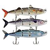 Rose Kuli Fishing Lures for Bass Trout Multi Jointed Swimbaits Slow Sinking Bionic Swimming Lures Bass Freshwater Saltwater Bass Fishing Lures Kit Lifelike Fishing Gifts for Men