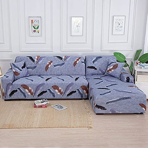 Living Room Solid Color Printing Corner Sofa Cover Elastic Sofa Cover U-Shaped Sofa Cover L-Shaped Stretch 1 2 3 4-Seater A16 3 Seater
