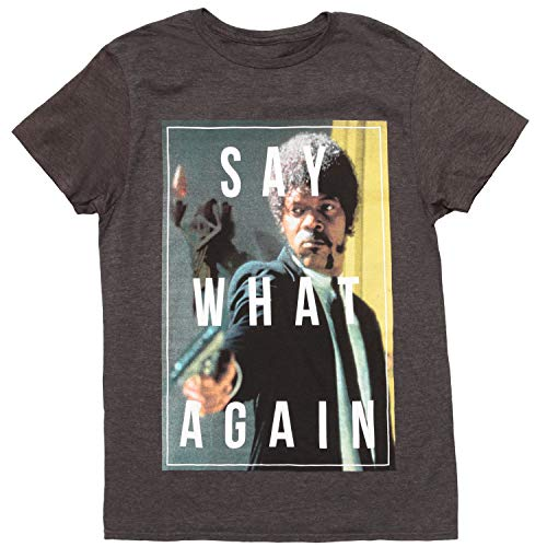 Pulp Fiction Say What Again Adult T-Shirt - Black (Small)