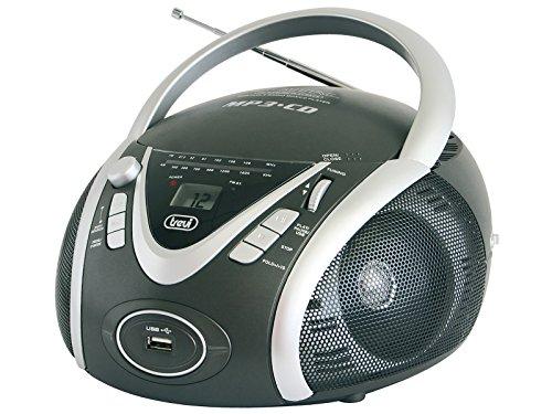 Trevi CMP 542 USB Analógica 6W Negro - Radio CD (Analógica, AM,FM, CD, 6 W, LCD, Negro)