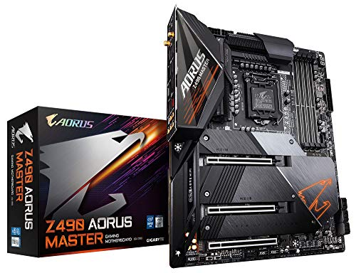 GIGABYTE Z490 AORUS Master (Intel LGA1200/Z490/ATX/Intel 2.5G LAN/3xM.2 Thermal Guard/SATA 6Gb/s/USB 3.2 Gen 2/Intel Wi-Fi 6/ESS Sabre DAC/Fins Array II/Gaming Motherboard)