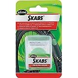 Slime 20053 Kit de Parches Skab para Bicicletas, Reparación de Pinchazos de Neumáticos con Cámara, Contiene 6 Parches y 1 Raspador Metálico