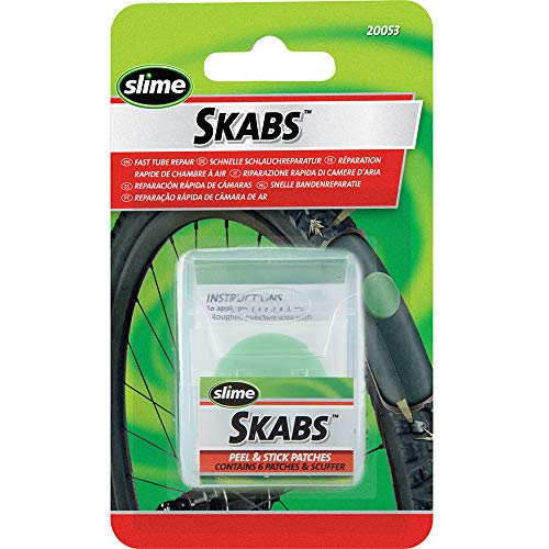 Slime 20053 Bike Skabs Patch Kit, for bike tube puncture repair, contains 6 patches and a metal scuffer