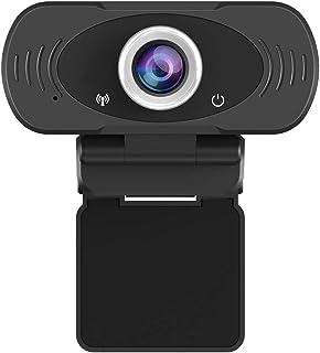 JideTech - Webcam para PC 1080P con micrófono, USB para computadora portátil, conectar y Usar, cámara Web para conferencias Web, MSN y Skype …
