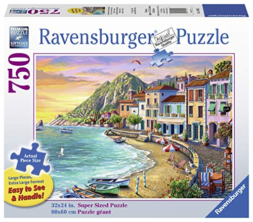 Ravensburger Romantic Sunset 19940 750 Piece Large Pieces Jigsaw Puzzle for Adults, Every Piece is Unique, Softclick Technology Means Pieces Fit Together Perfectly, Multi, 31.5'' x 23.5'''
