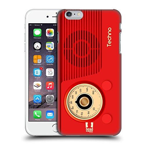 Head Case Designs Techno Radio Telefono Vintage Cover Dura per Parte Posteriore Compatibile con Apple iPhone 6 Plus/iPhone 6s Plus