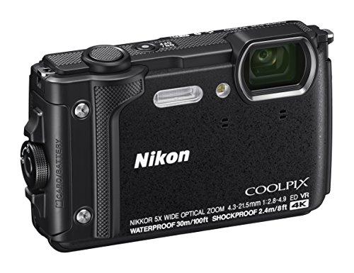 Nikon Coolpix W300 Fotocamera Digitale Compatta, 16 Megapixel, 4K, Subacquea, Antiurto, Antigelo, GPS, GLONASS, Wi-fi, Bluetooth, Nero [Nital card: 4 anni di garanzia]