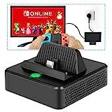 Charging Stand pour Nintendo Switch- innoAura Station D'accueil TV Portable De Rechange Avec Port D'alimentation USB C, Port D'entrée USB 3.0 et Port HDMI pour Nintendo Switch