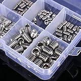 ZSRXL 200pcs / set tornillos de acero inoxidable de madera Allen de cabeza hueca hexagonal Conjunto tornillo de cabeza hendida Surtido Copa Point parafuso Surtido