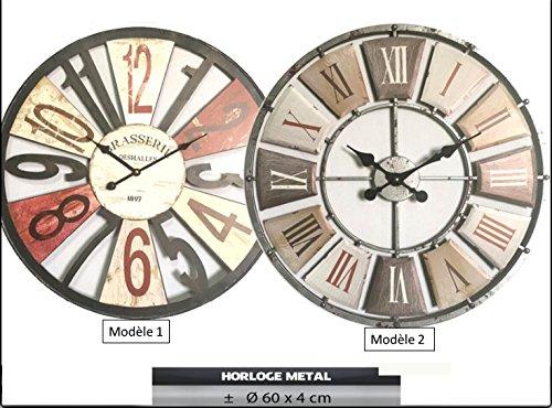 Horloge murale ronde Ø60 cm , horloge vintage retro