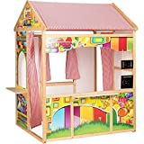 Unbekannt Marionette 56388 - Rollenspielhaus aus Holz und Textilelementen