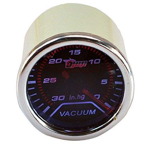 Supmico 52mm Weiß LED Licht Kfz Auto Universal Vakuumanzeige Vakuum Anzeige Instrument Vakuum Gauge Rauchfarbe Len Messgerät