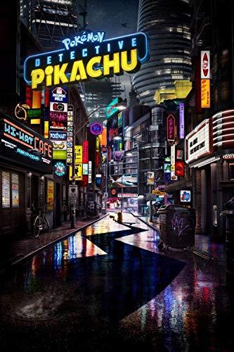 XTTGGD 1000 Piezas de Rompecabezas para niños y Adultos, Carteles de películas de Detective Pikachu, Juego de Inteligencia educativa Familiar, Juguete, Regalo de cumpleaños, Juego desafiante