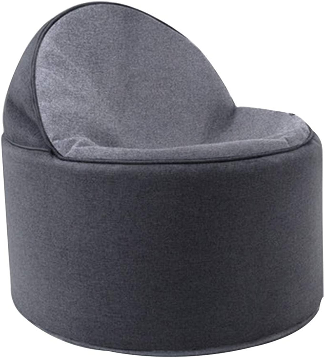 BYPING Pouffes And Footstools Living Room Foldable Breathable Portable Cotton and Linen Wear-Resistant, 2 colors (color   Black, Size   30x55x57CM)