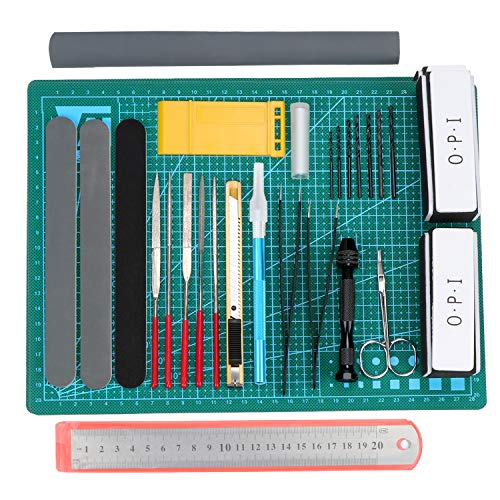 HSEAMALL 25Pcs Gundam Modeler Basic Tools,Hobby-Bauhandwerk Kraft Set für Automodell Montagebaukasten