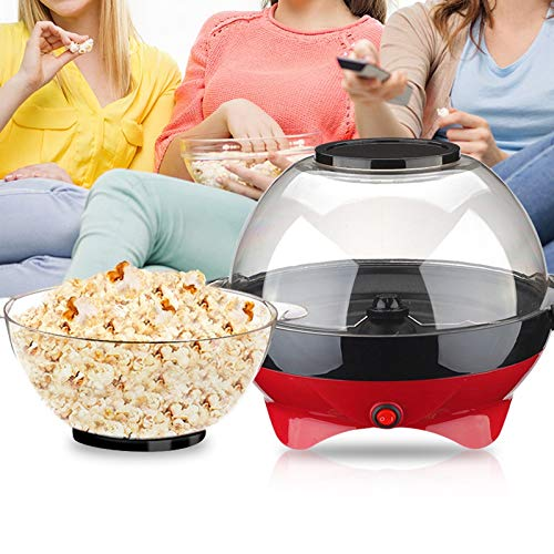 Buy Discount QWERTOUY Mini Red Small Round Machine Home Children Automatic Popcorn Machine Electric ...