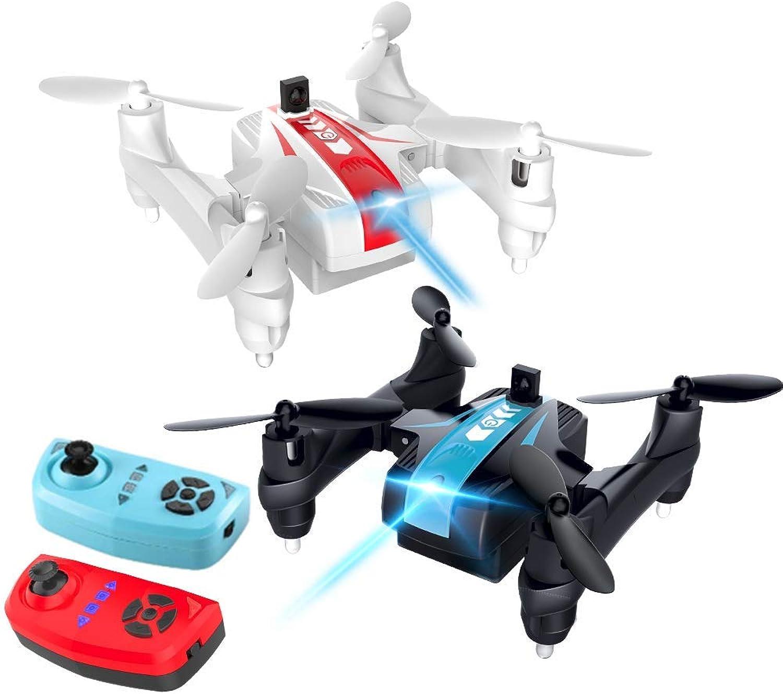 RCDNE 2 PCS Drone Ensemble, Mine Drone, Drone de Combat interactif à 2 Personnes pour Les débutants et Les enfants-360 ° 3D Flips, Mode sans tête, Une opération clé